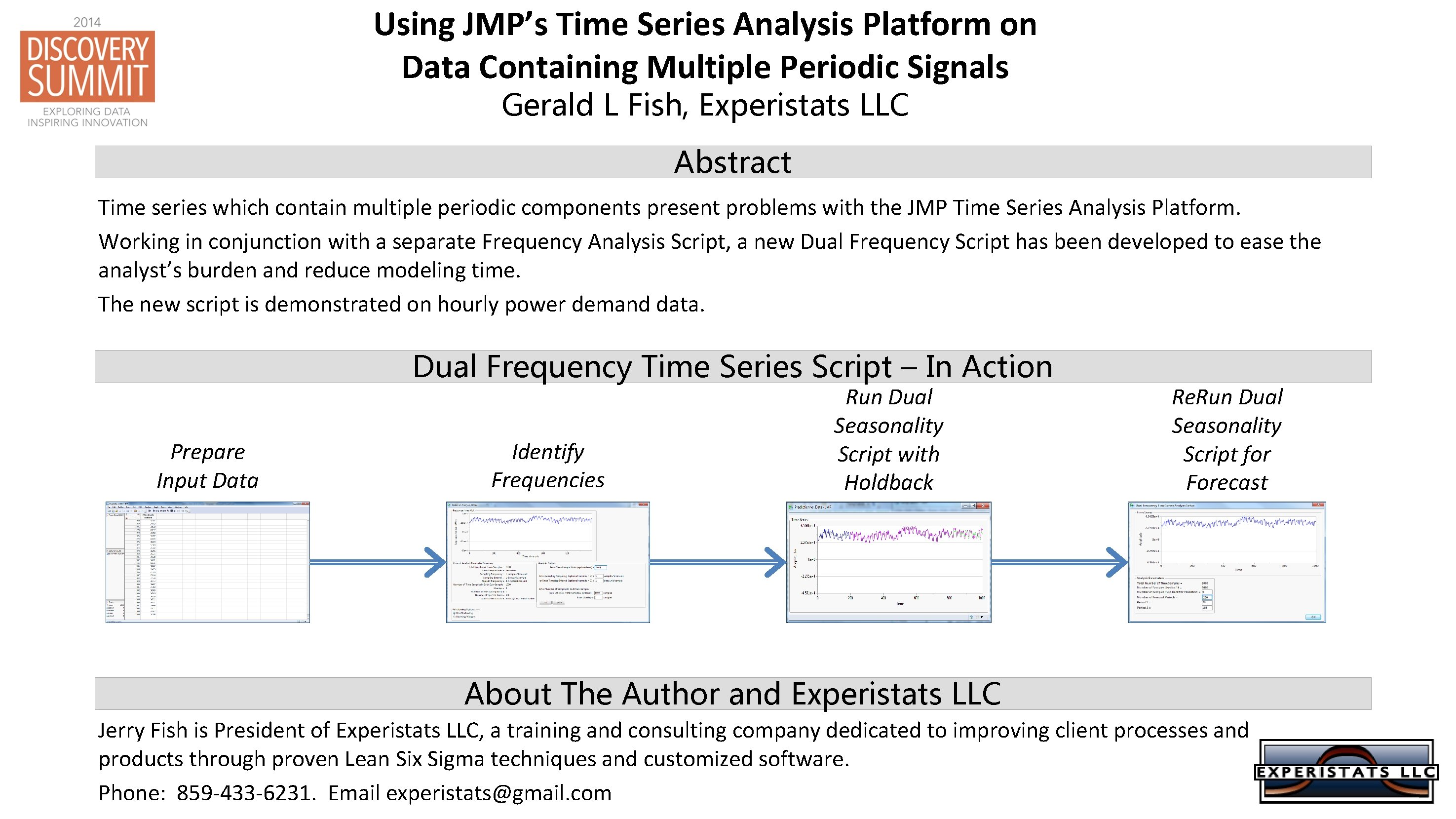 Using JMP's Time Series Analysis Platform on Data Containing Multiple Periodic Signals Gerald L