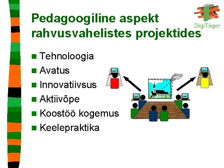 Pedagoogiline aspekt rahvusvahelistes projektides n Tehnoloogia n Avatus n Innovatiivsus n Aktiivõpe n Koostöö