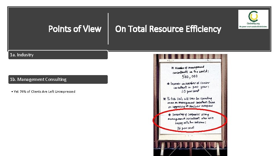Points of View On Total Resource Efficiency 1 a. Industry • How To Cut