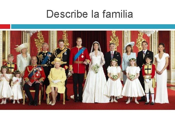 Describe la familia