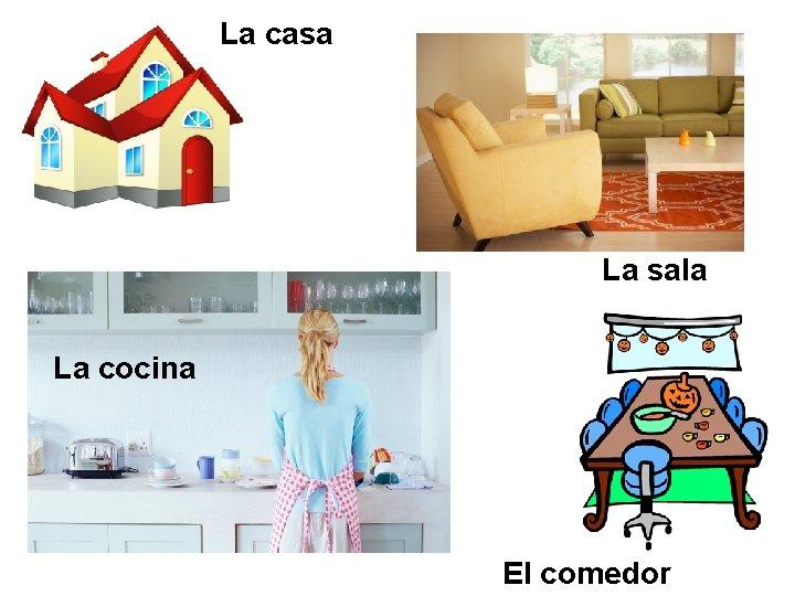La casa La sala La cocina El comedor