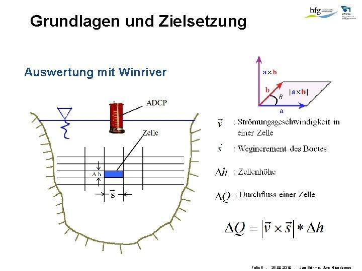 Grundlagen und Zielsetzung Auswertung mit Winriver Folie 5 - 25. 09. 2019 - Jan