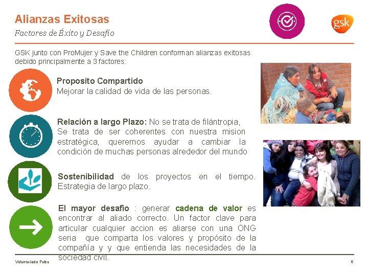 Alianzas Exitosas Factores de Éxito y Desafío GSK junto con Pro. Mujer y Save