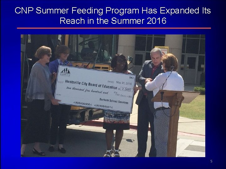 CNP Summer Feeding Program Has Expanded Its Reach in the Summer 2016 5