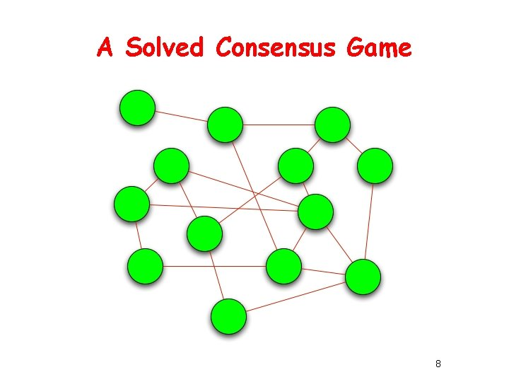 A Solved Consensus Game 8
