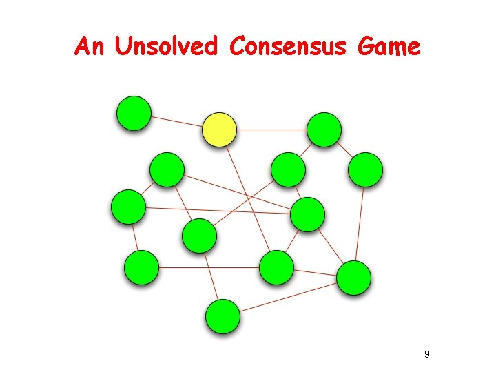 An Unsolved Consensus Game 9