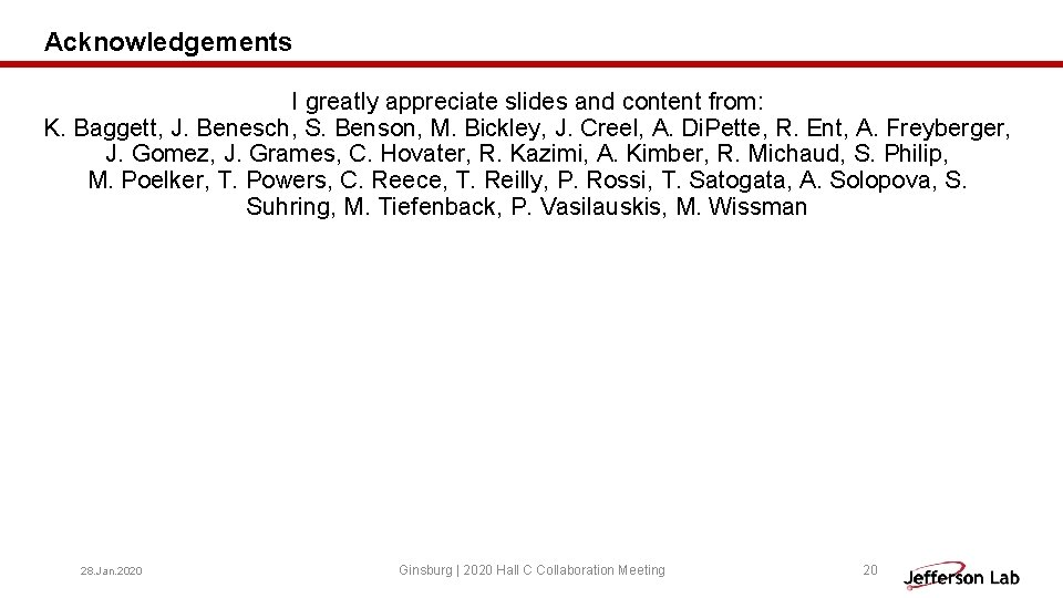 Acknowledgements I greatly appreciate slides and content from: K. Baggett, J. Benesch, S. Benson,