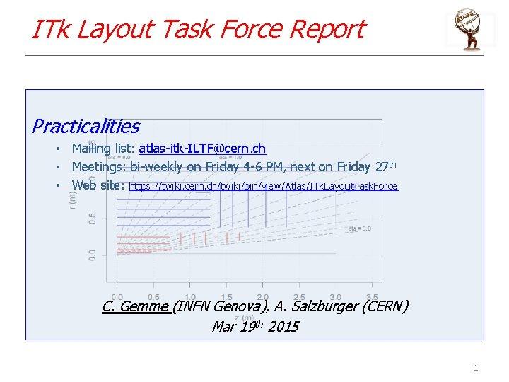 ITk Layout Task Force Report Practicalities • Mailing list: atlas-itk-ILTF@cern. ch • Meetings: bi-weekly