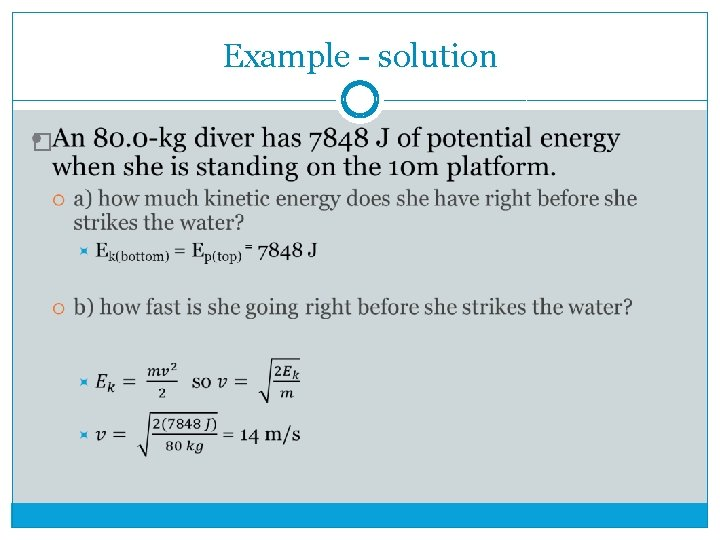 Example - solution �