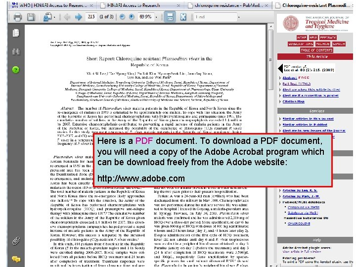 Full text PDF documents Here is a PDF document. To download a PDF document,