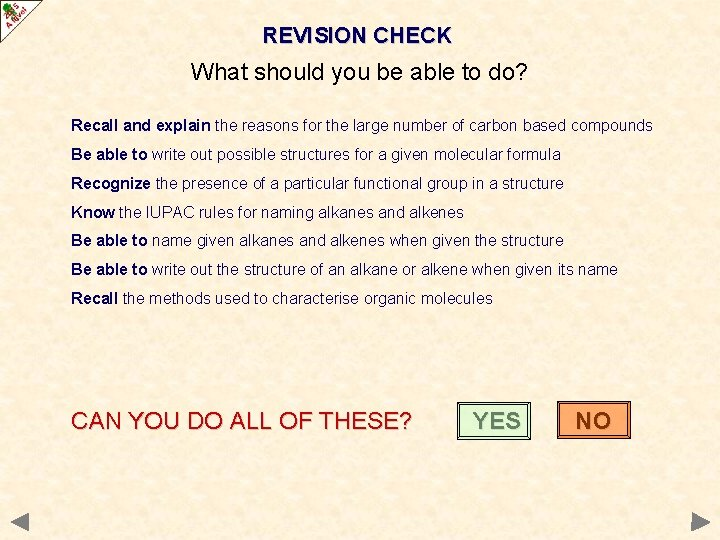 REVISION CHECK What should you be able to do? Recall and explain the reasons