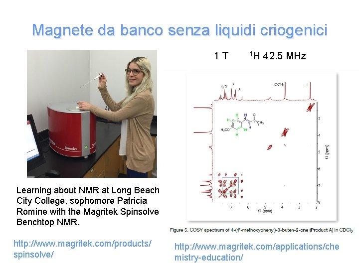 Magnete da banco senza liquidi criogenici 1 T 1 H 42. 5 MHz Learning