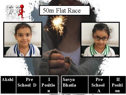 50 m Flat Race Akshi Pre School D I Positio n 16 Savya Bhatia