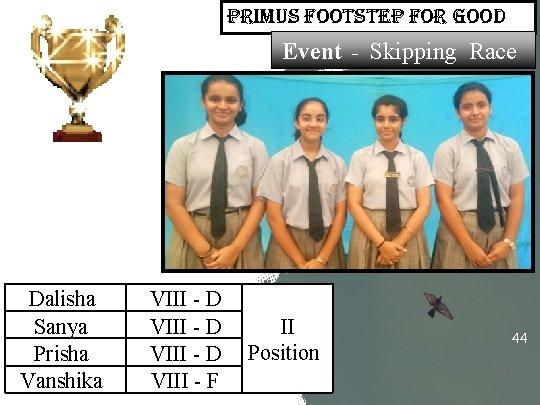 primus Footstep For Good Event - Skipping Race Dalisha Sanya Prisha Vanshika VIII -