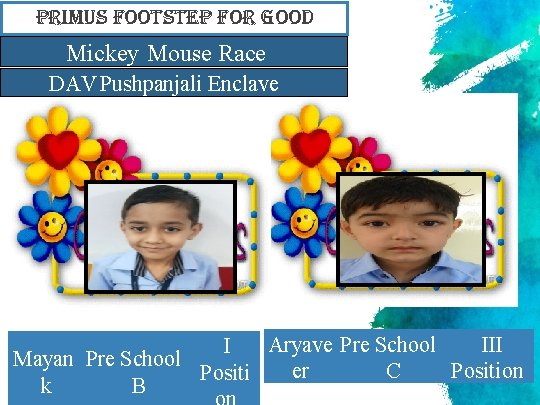 primus Footstep For Good Mickey Mouse Race DAV Pushpanjali Enclave Aryave Pre School III