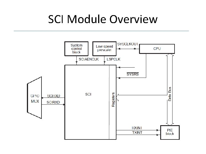 SCI Module Overview