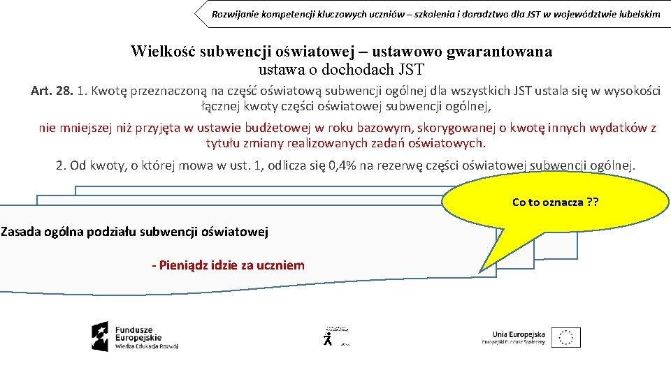 Rozwijanie kompetencji kluczowych uczniów – szkolenia i doradztwo dla JST w województwie lubelskim Wielkość