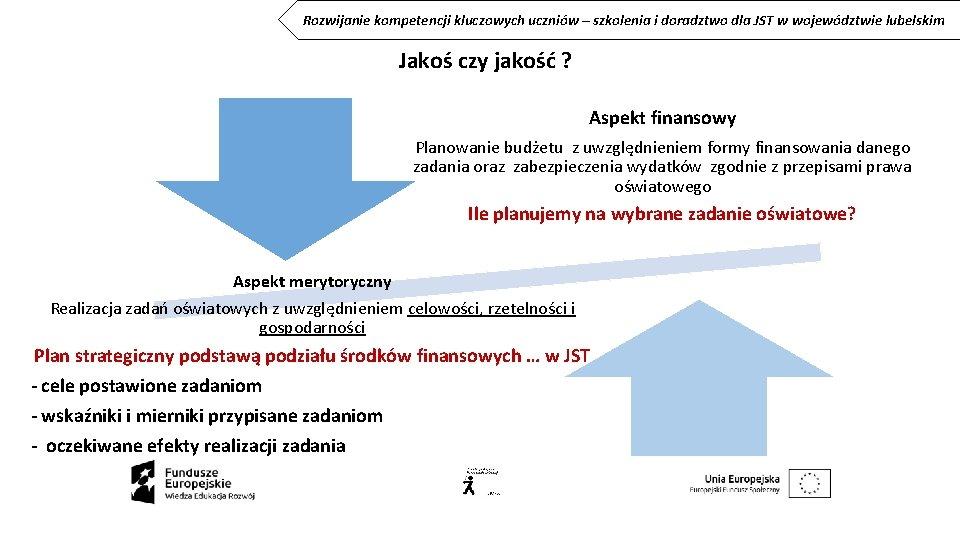 Rozwijanie kompetencji kluczowych uczniów – szkolenia i doradztwo dla JST w województwie lubelskim Jakoś