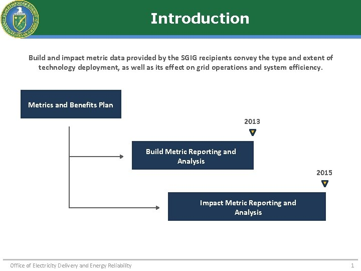 Introduction Build and impact metric data provided by the SGIG recipients convey the type
