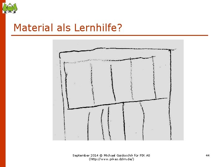 Material als Lernhilfe? September 2014 © Michael Gaidoschik für PIK AS (http: //www. pikas.