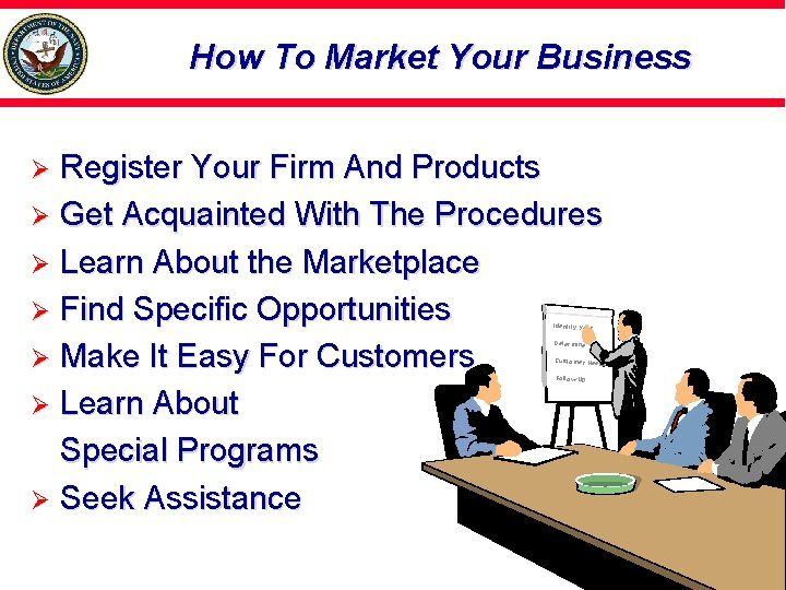 How To Market Your Business Register Your Firm And Products Ø Get Acquainted With