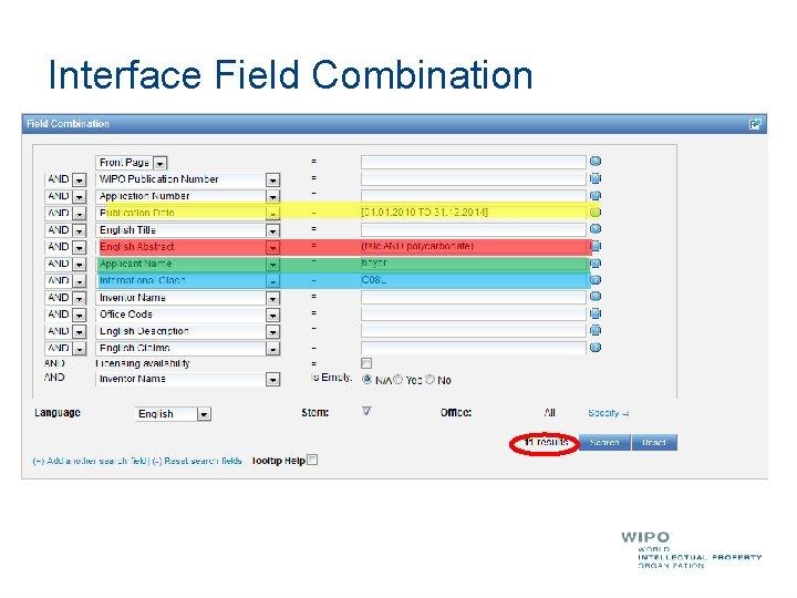 Interface Field Combination
