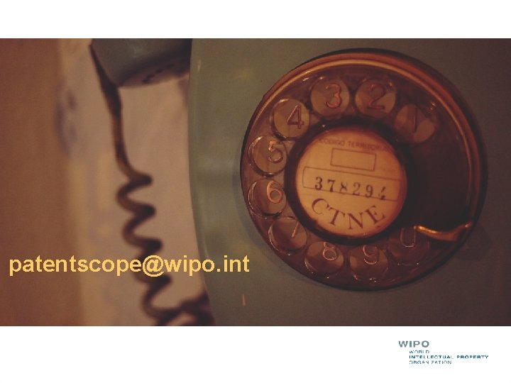 patentscope@wipo. int