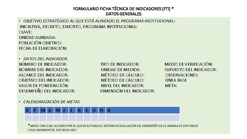 FORMULARIO FICHA TÉCNICA DE INDICADORES (FTI) * DATOS GENERALES • OBJETIVO ESTRATÉGICO AL QUE