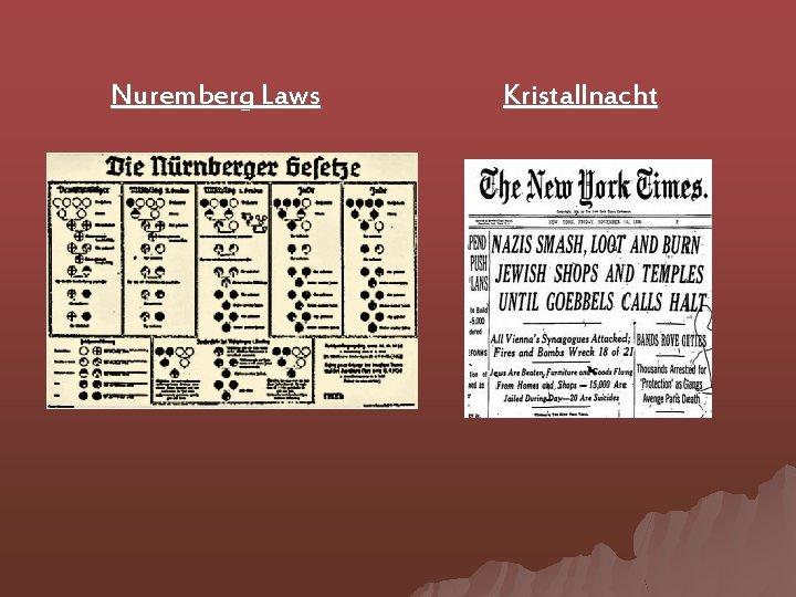 Nuremberg Laws Kristallnacht