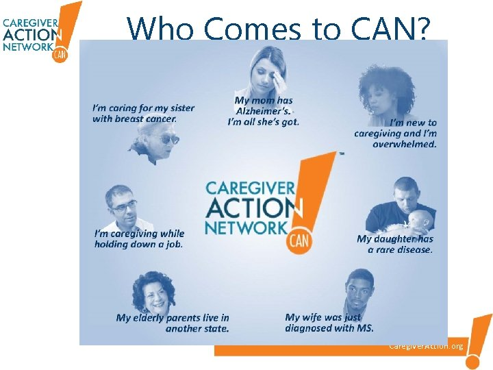 Who Comes to CAN? Caregiver. Action. org