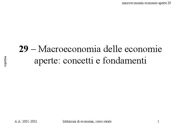 copertina macroeconomia economie aperte 29 29 – Macroeconomia delle economie aperte: concetti e fondamenti