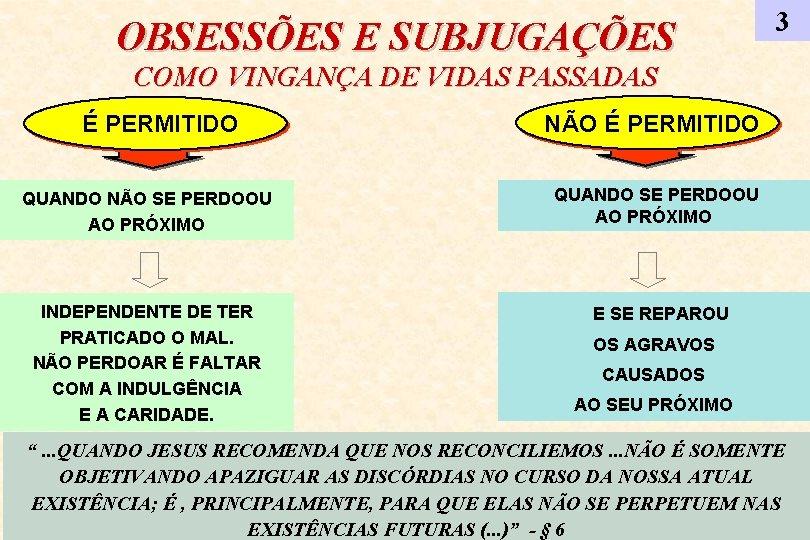 OBSESSÕES E SUBJUGAÇÕES 3 COMO VINGANÇA DE VIDAS PASSADAS É PERMITIDO NÃO É PERMITIDO
