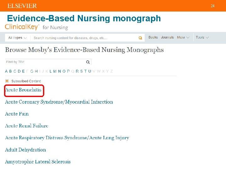 24 Evidence-Based Nursing monograph