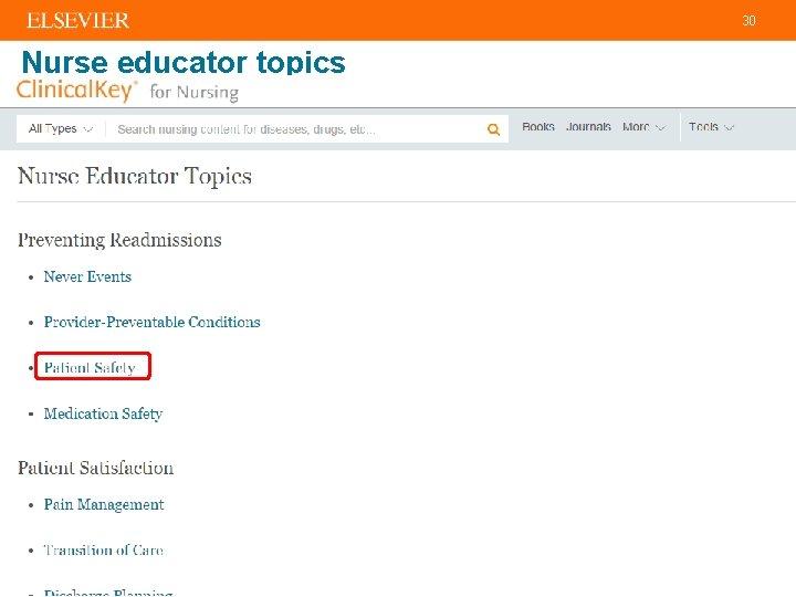 30 Nurse educator topics