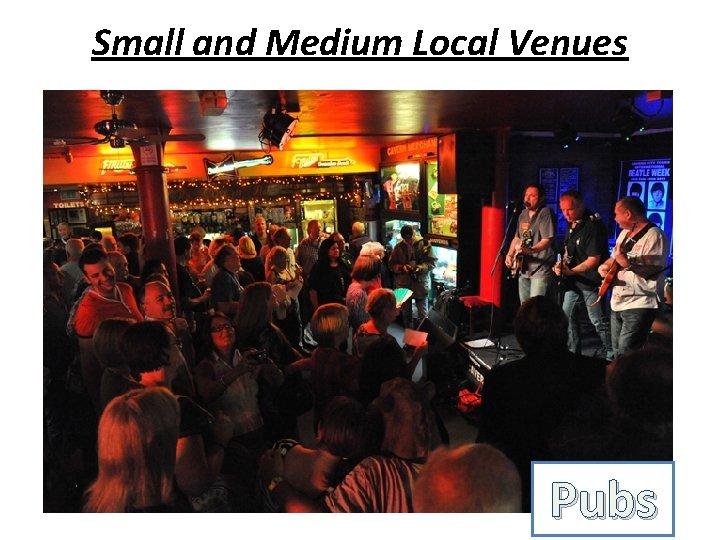 Small and Medium Local Venues Pubs