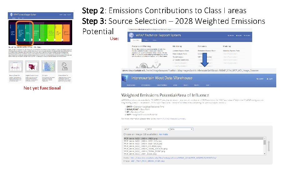 Step 2: Emissions Contributions to Class I areas Step 3: Source Selection – 2028