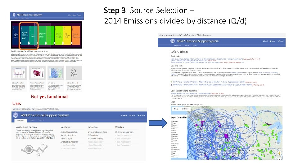 Step 3: Source Selection – 2014 Emissions divided by distance (Q/d) Not yet functional