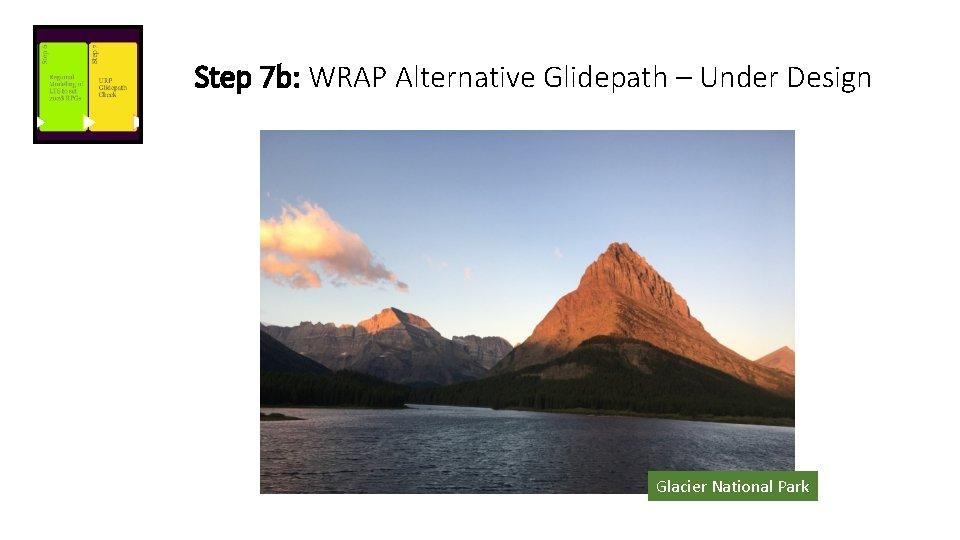 Step 7 b: WRAP Alternative Glidepath – Under Design Glacier National Park