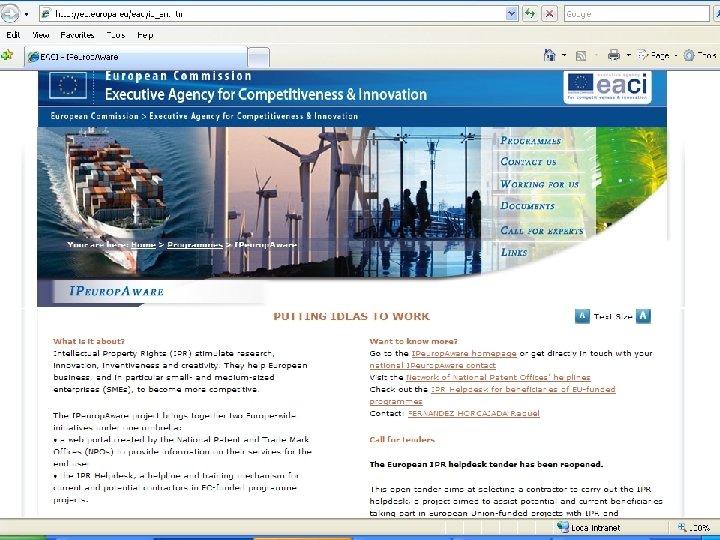 EACI's remit: CIP EIP