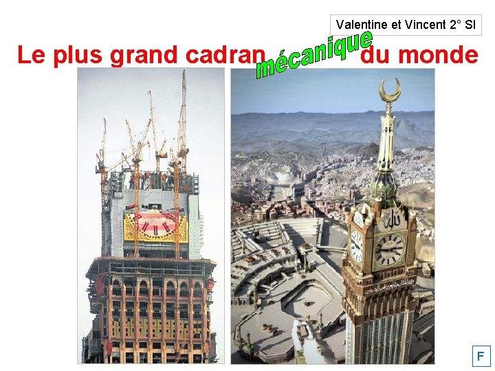 Valentine et Vincent 2° SI Le plus grand cadran solaire du monde F