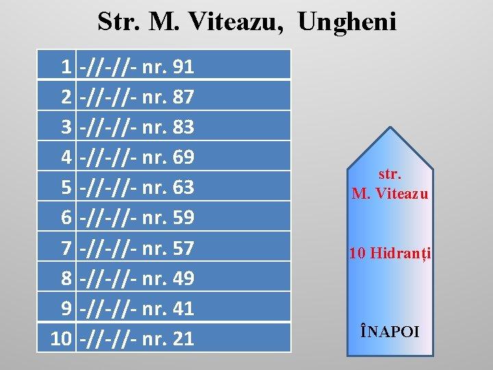 Str. M. Viteazu, Ungheni 1 2 3 4 5 6 7 8 9 10