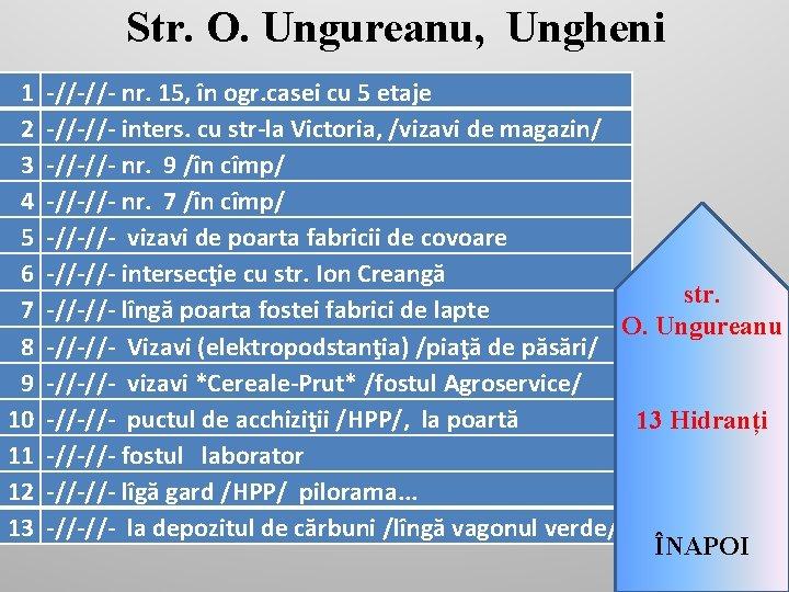 Str. O. Ungureanu, Ungheni 1 2 3 4 5 6 7 8 9 10