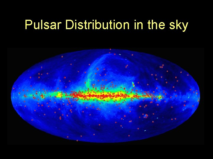 Pulsar Distribution in the sky