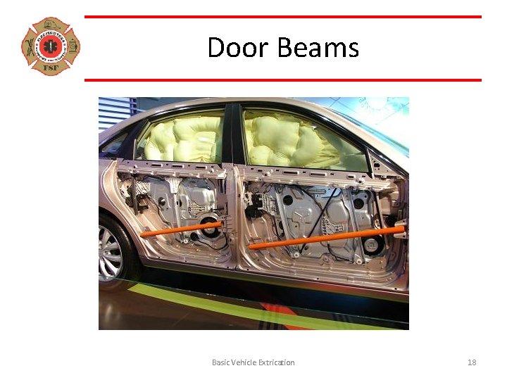 Door Beams Basic Vehicle Extrication 18