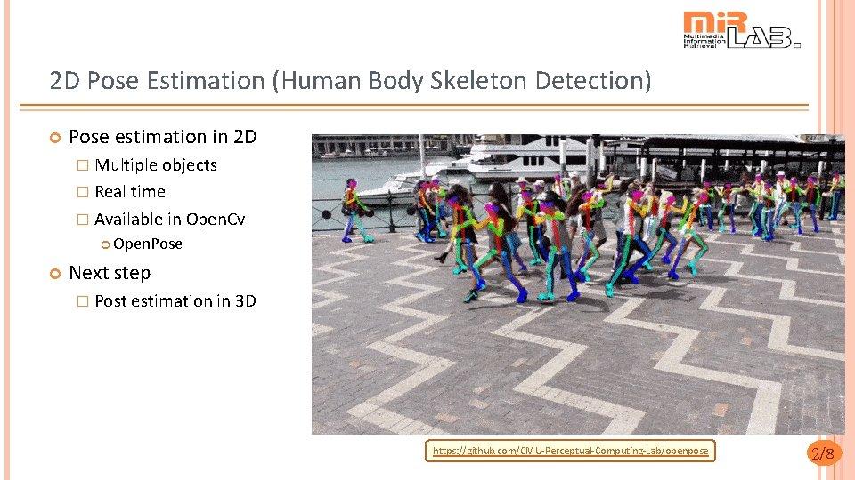 2 D Pose Estimation (Human Body Skeleton Detection) Pose estimation in 2 D �