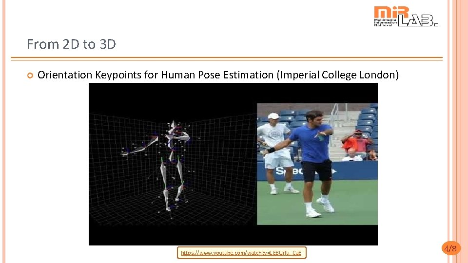 From 2 D to 3 D Orientation Keypoints for Human Pose Estimation (Imperial College