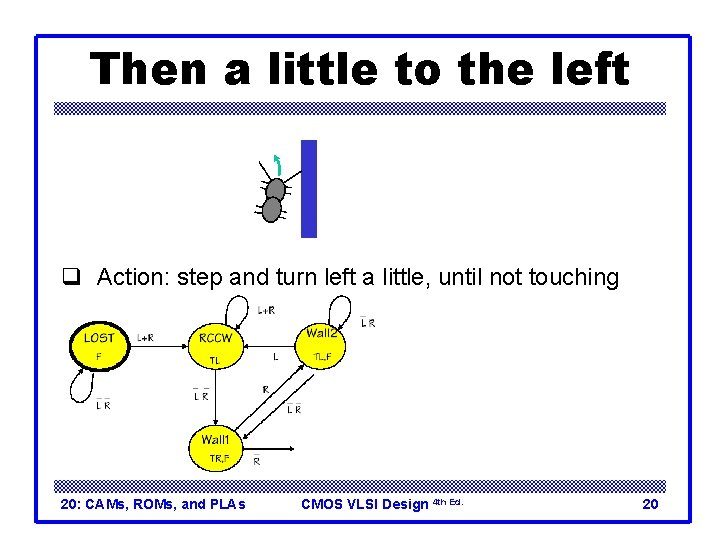 Then a little to the left q Action: step and turn left a little,