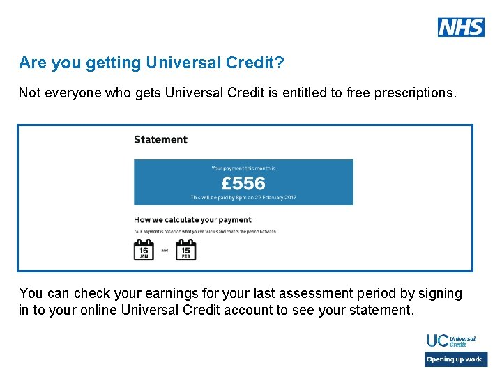 Are you getting Universal Credit? Not everyone who gets Universal Credit is entitled to