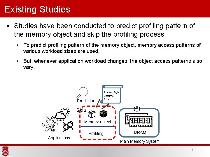 Existing Studies § Studies have been conducted to predict profiling pattern of the memory