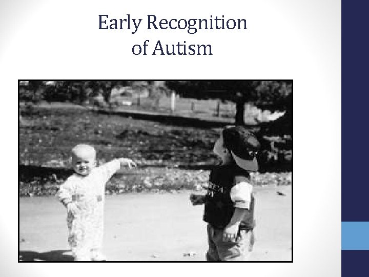 Early Recognition of Autism